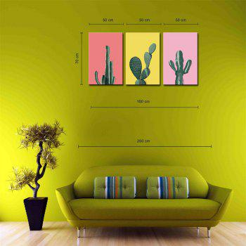 Hua Tuo Plant Style Stretched Frame Ready To Hang Size 50 x 70CM A1770 - GREEN GREEN