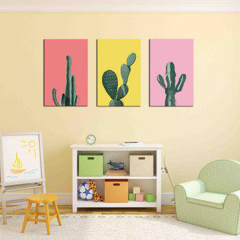 Hua Tuo Plant Style Stretched Frame Ready To Hang Size 50 x 70CM A1770 - GREEN 20 X 28 INCH (50CM X 70CM)