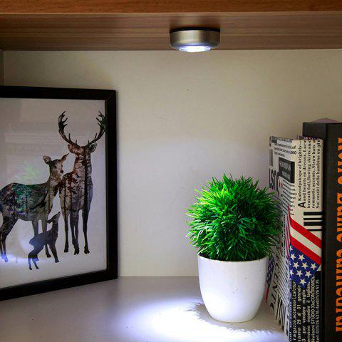 DIHE Multifunctional Sticky LED Lights Energy Conservation Use 3 AAA Battery - SILVER