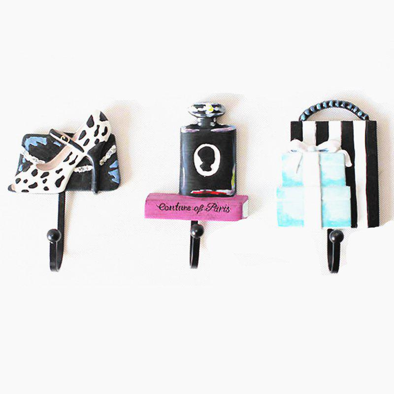 Resin coat hooks three-piece suit - BLACK
