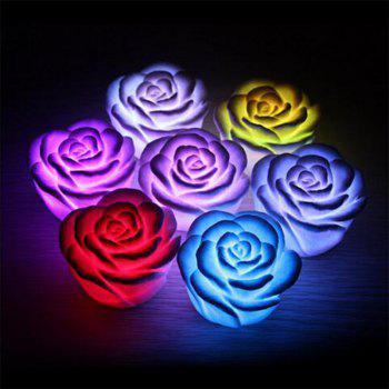 JUEJA LED Light Colorful Flashing Rose Flower Nightlight Wedding Party Lamp Decor Holiday Lighting - RGB COLOR RGB COLOR