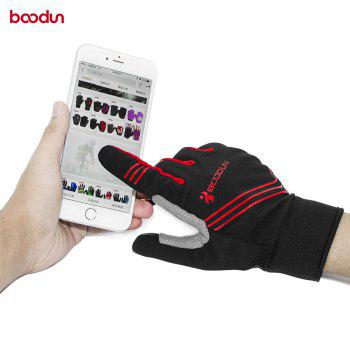 BOODUN Touch Screen Gloves Men Winter Cycling Gloves GEL Bike For Man Woman - RED XL