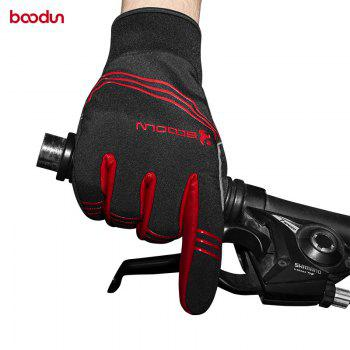 BOODUN Touch Screen Gloves Men Winter Cycling Gloves GEL Bike For Man Woman - RED M