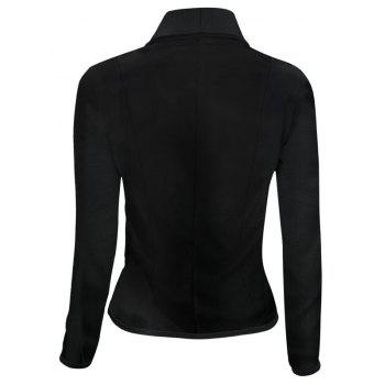 Women's Blazer Solid Color Button Slim Blazer - BLACK 5XL