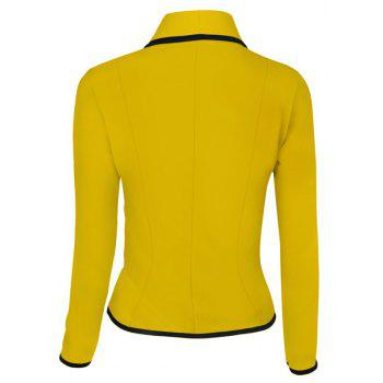 Women's Blazer Solid Color Button Slim Blazer - YELLOW 5XL