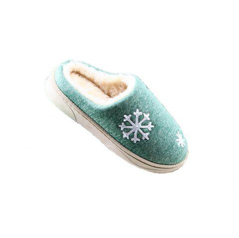 ZEACAVA Snow Warm Comfort Cotton Slippers - GREEN 45
