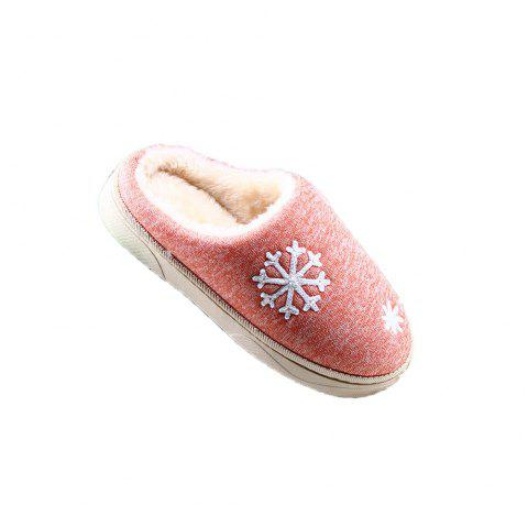 ZEACAVA Snow Warm Comfort Cotton Slippers - JACINTH 37