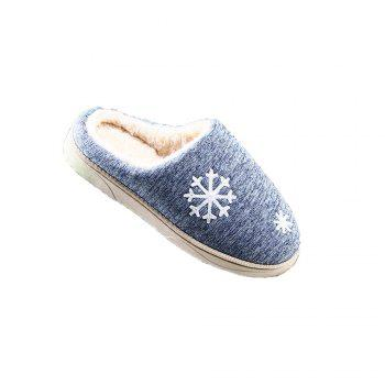 ZEACAVA Snow Warm Comfort Cotton Slippers - BLUE BLUE