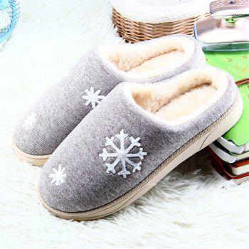 ZEACAVA Snow Warm Comfort Cotton Slippers - GRAY GRAY