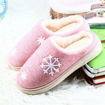 ZEACAVA Snow Warm Comfort Cotton Slippers - PINK 39