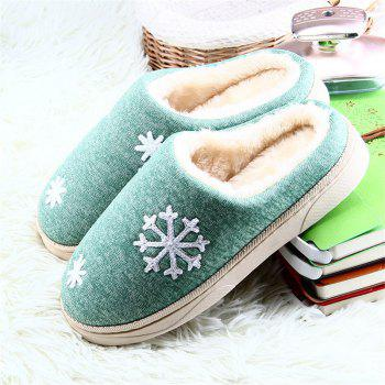 ZEACAVA Snow Warm Comfort Cotton Slippers - GREEN 39