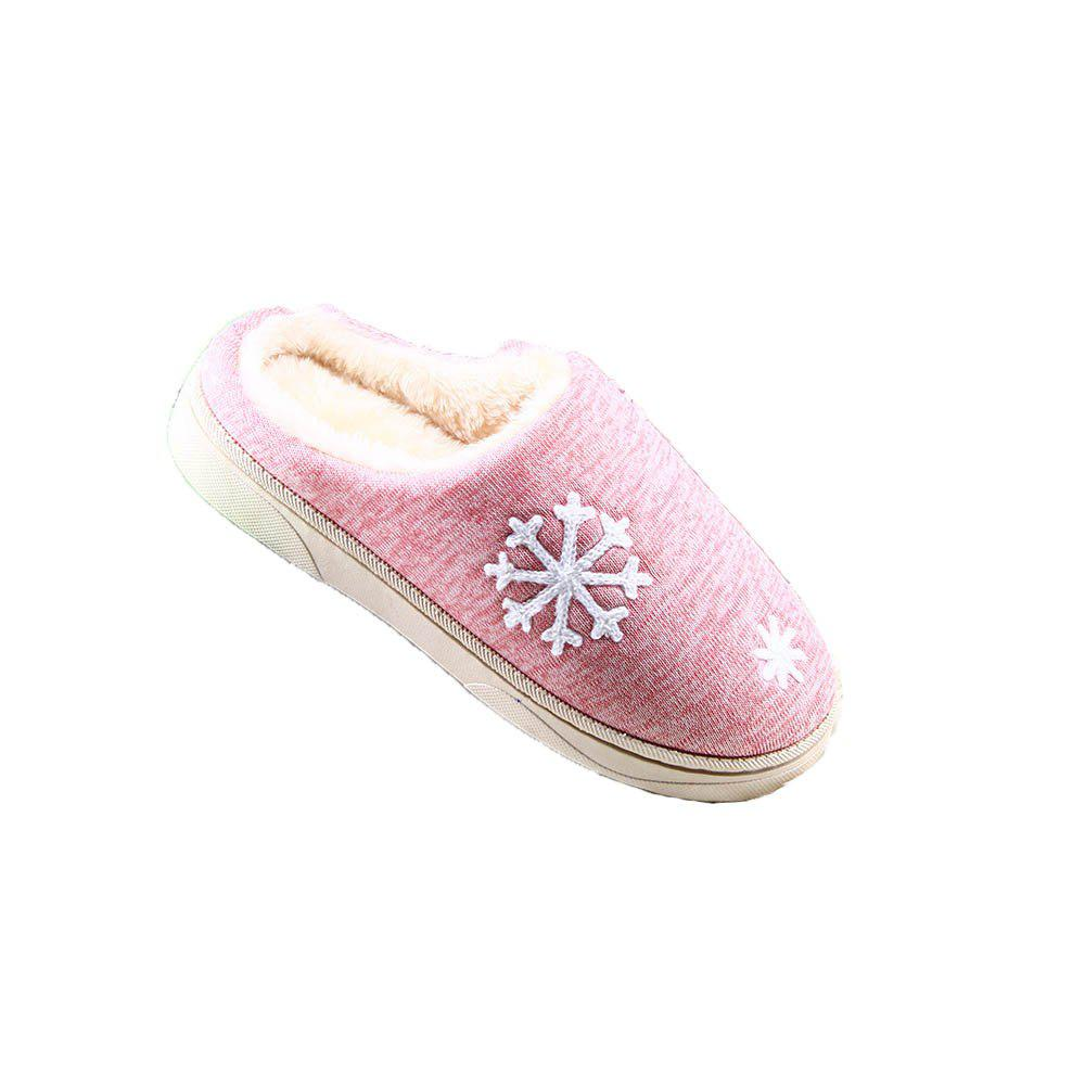 ZEACAVA Snow Warm Comfort Cotton Slippers - PINK 38