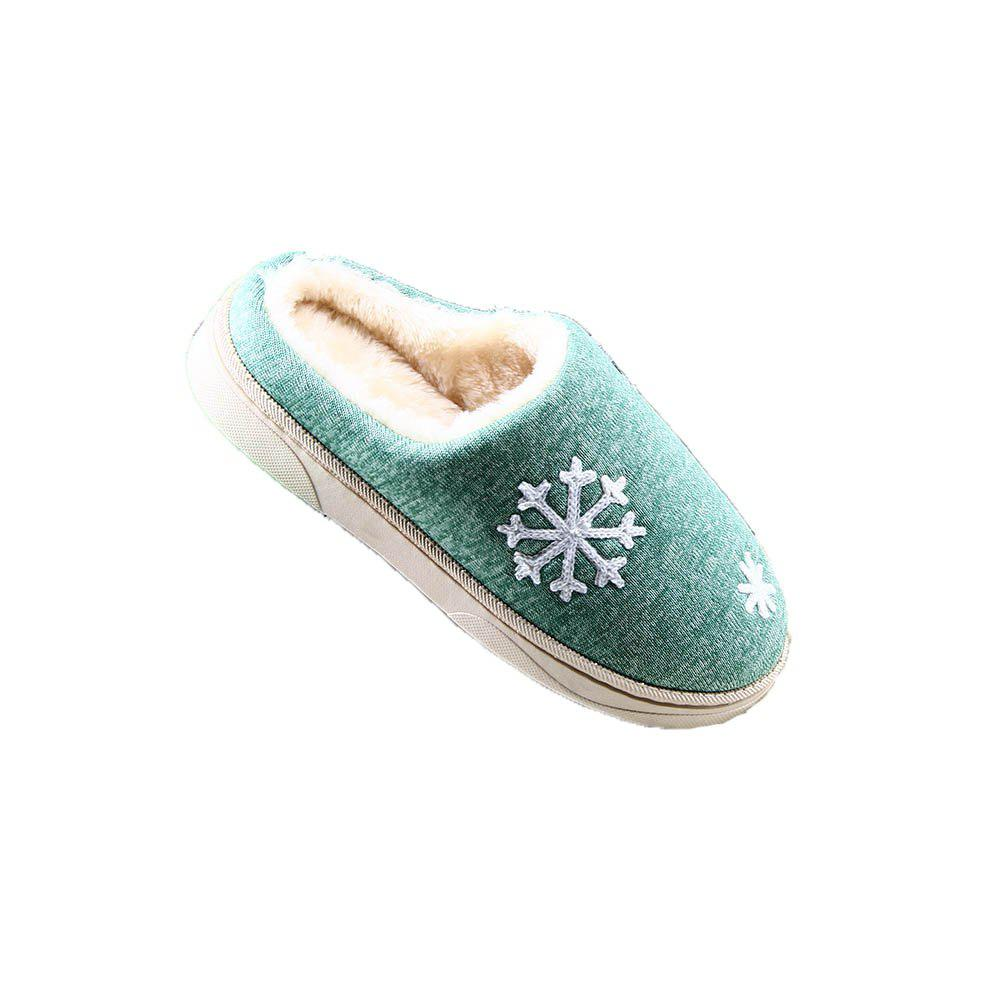 ZEACAVA Snow Warm Comfort Cotton Slippers - GREEN 41