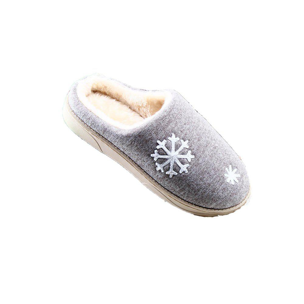 ZEACAVA Snow Warm Comfort Cotton Slippers - GRAY 39