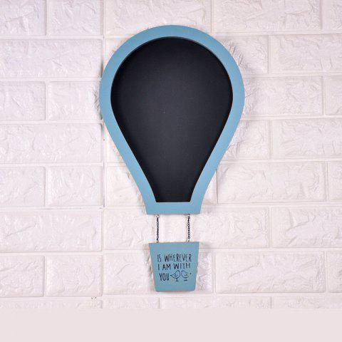 Message Board Romantique Couleur Solide Air Chaud Ballon Forme Blackboard Mur Décor - Bleu