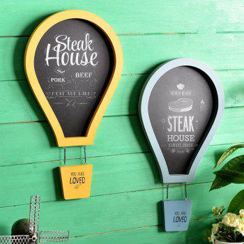 Message Board Romantic Solid Color Hot Air Balloon Shape Blackboard Wall Decor -  BLUE