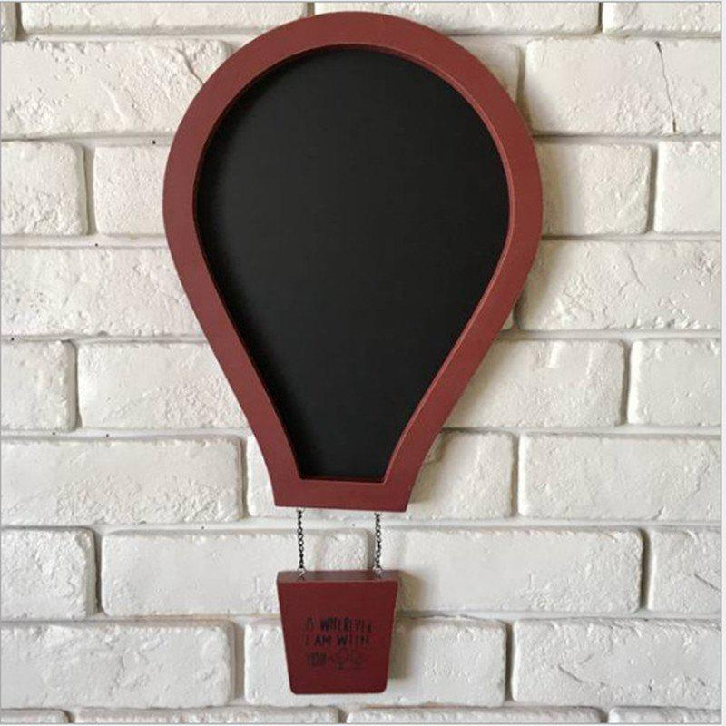 Message Board Romantic Solid Color Hot Air Balloon Shape Blackboard Wall Decor - RED
