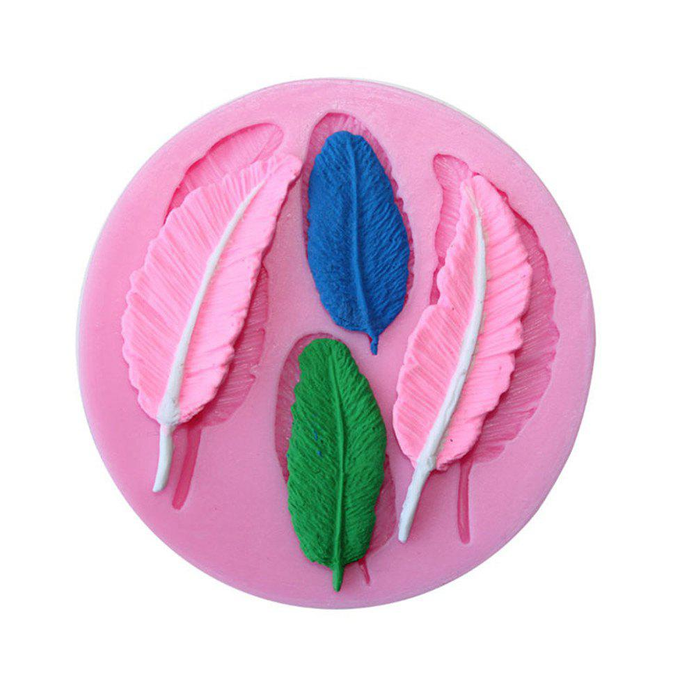 WS 0230 DIY Feather Silica Gel Cake Mold - PINK