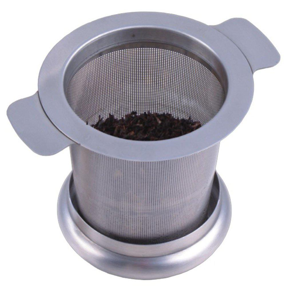 Double Handle High Quanlity Stainless Steel Tea Strainer - SILVER