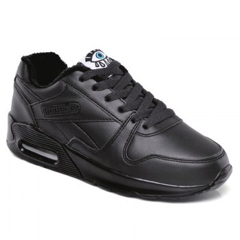 Stylish High Top and PU Leather Design Athletic Shoes for Women - BLACK BLACK