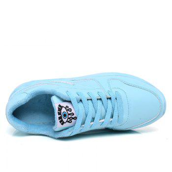 Stylish High Top and PU Leather Design Athletic Shoes for Women - BLUE BLUE