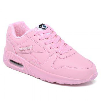 Stylish High Top and PU Leather Design Athletic Shoes for Women - PINK PINK
