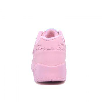 Stylish High Top and PU Leather Design Athletic Shoes for Women - PINK 38