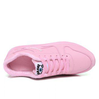 Stylish High Top and PU Leather Design Athletic Shoes for Women - PINK 36