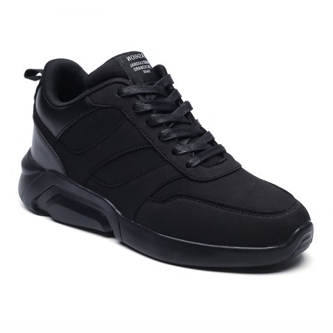 Hommes Casual Mode respirant Lace Up Chaussures athlétiques - Noir 41