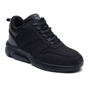 Men Casual Fashion Breathable Lace up Athletic Shoes - BLACK BLACK