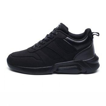 Men Casual Fashion Breathable Lace up Athletic Shoes - BLACK 40