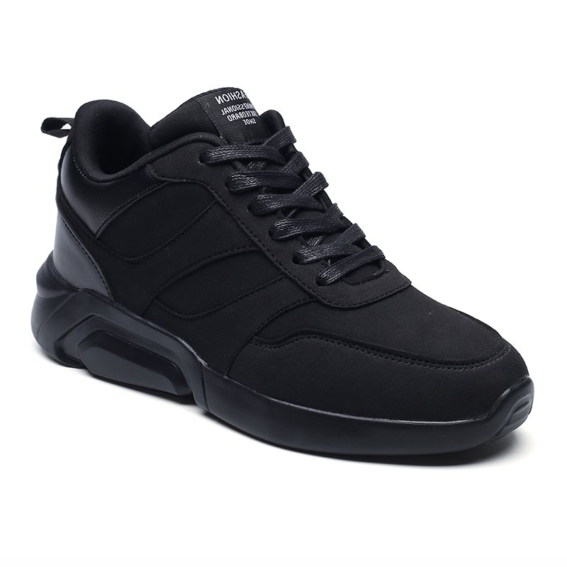 Men Casual Fashion Breathable Lace up Athletic Shoes - BLACK 43