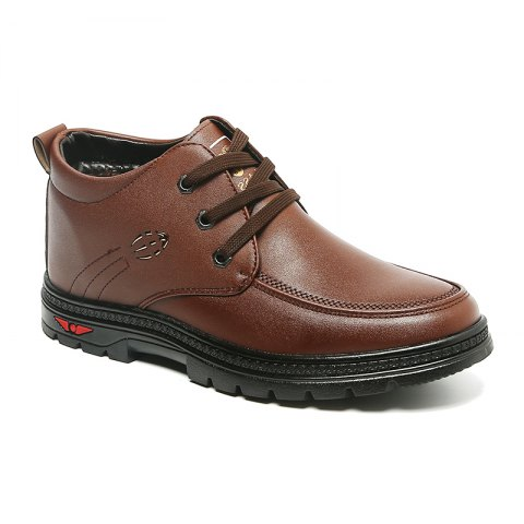 British Style Business Casual All-match Shoes - TAN 42