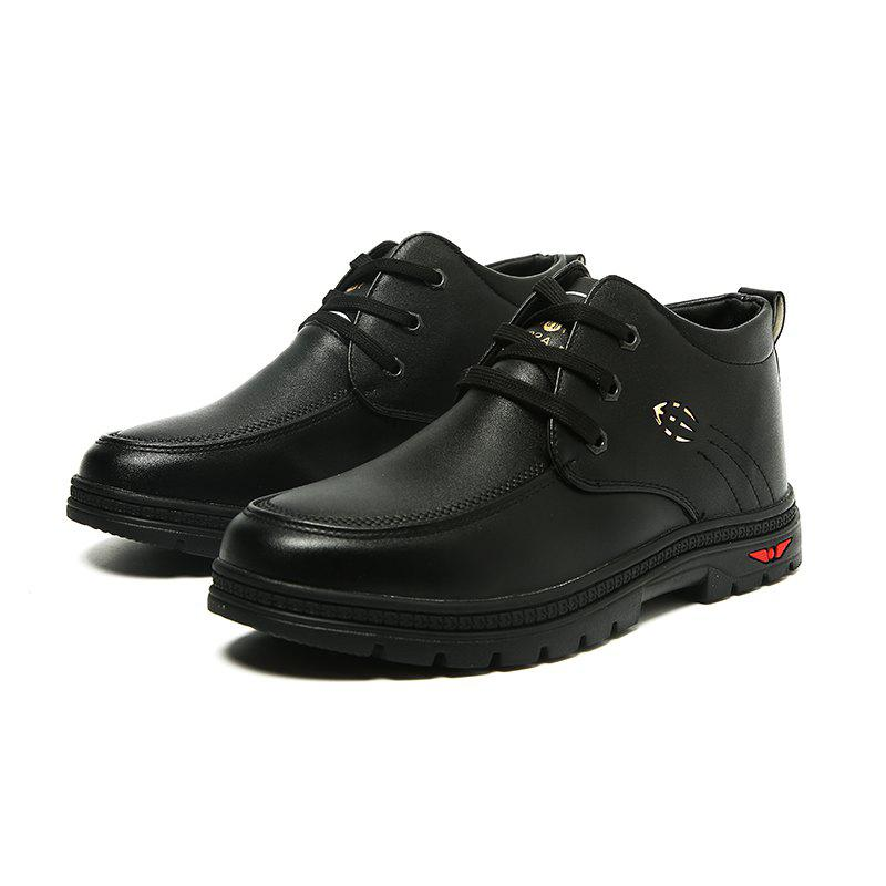 British Style Business Casual All-match Shoes - BLACK 44