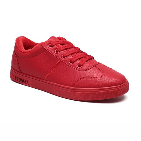 Men Casual Fashion Outdoor Indoor Flat Athletic Sneakers - RED 39