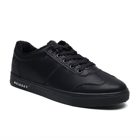 Men Casual Fashion Outdoor Indoor Flat Athletic Sneakers - BLACK 43