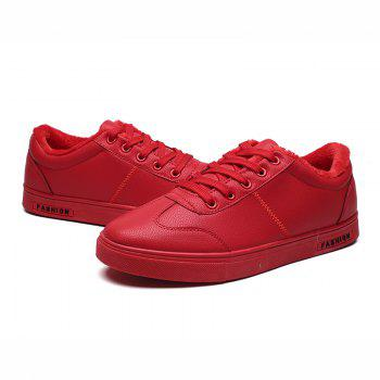 Men Casual Fashion Outdoor Indoor Flat Athletic Sneakers - RED 40