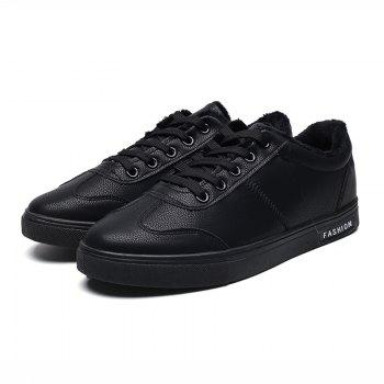 Men Casual Fashion Outdoor Indoor Flat Athletic Sneakers - BLACK 41