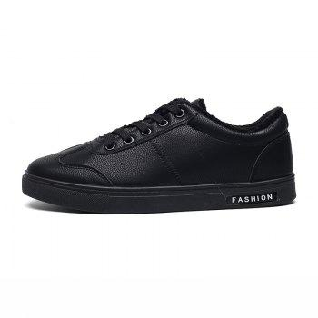 Men Casual Fashion Outdoor Indoor Flat Athletic Sneakers - BLACK 40