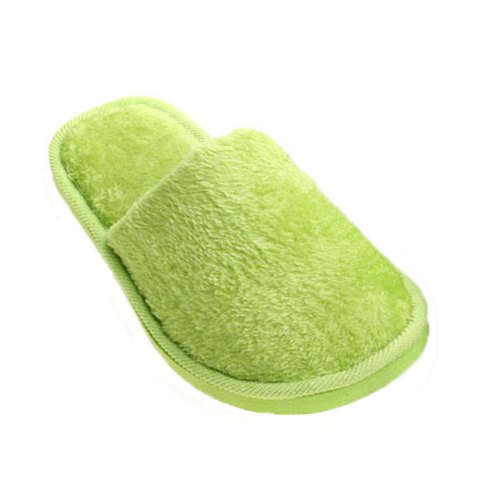 The New Home-Color Lovers Cotton Slippers - GREEN 39