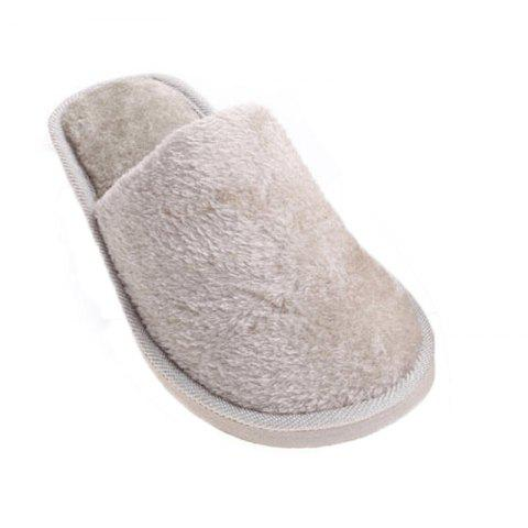 The New Home-Color Lovers Cotton Slippers - GRAY 41