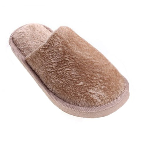 The New Home-Color Lovers Cotton Slippers - LIGHT BROWN 41