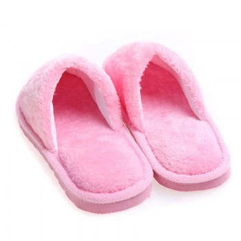 The New Home-Color Lovers Cotton Slippers - PINK 37