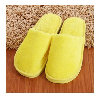 The New Home-Color Lovers Cotton Slippers - YELLOW YELLOW