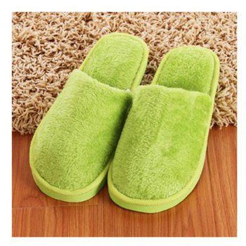 The New Home-Color Lovers Cotton Slippers - GREEN 37