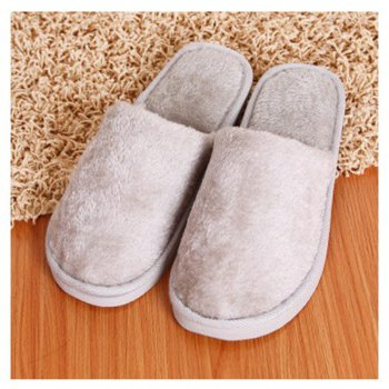 The New Home-Color Lovers Cotton Slippers - GRAY 43