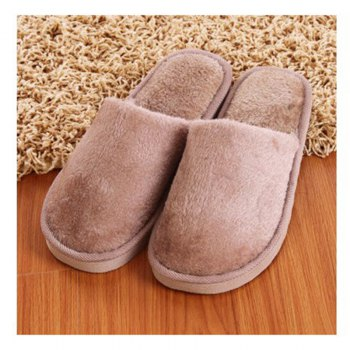 The New Home-Color Lovers Cotton Slippers - LIGHT BROWN LIGHT BROWN