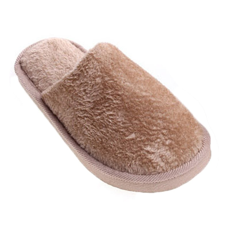 The New Home-Color Lovers Cotton Slippers - LIGHT BROWN 43