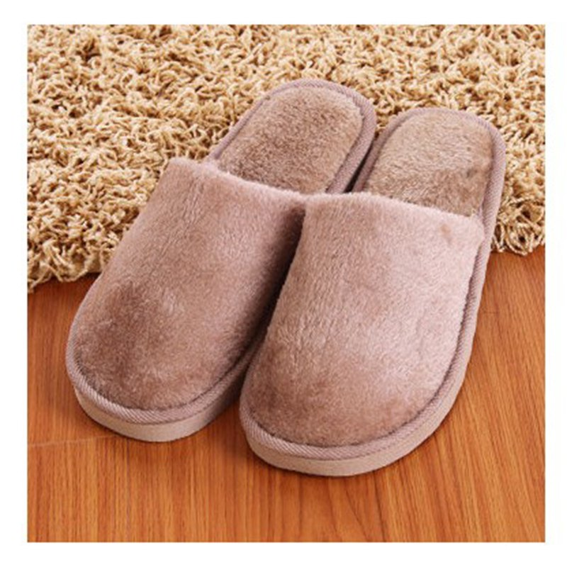The New Home-Color Lovers Cotton Slippers - LIGHT BROWN 44