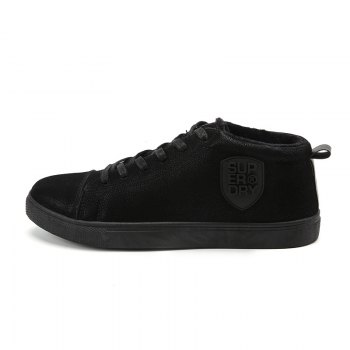 Male Breathable Wearable Lace up Casual Shoes - BLACK BLACK